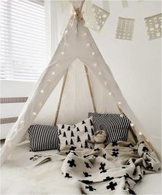 4 fabulous tipi corners for a kids room