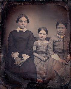 Apprising Sisters, 1/6th-Plate Daguerreotype, Circa 1850 | Flickr - Photo Sharing!