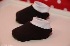 Puppen Schuhe  Schuhe für die Puppe nähen