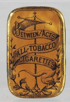 Between the Acts Flat Pocket Tobacco Tin.