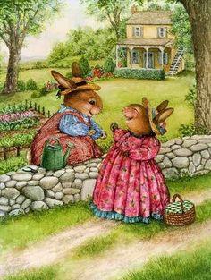 .Bunny friends.