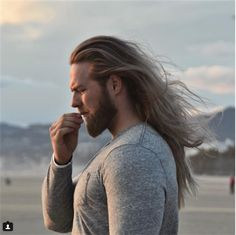 That awkward moment when there's a hair in your mouth and you can't find it by lasselom Moustaches, Gorgeous Men, Beautiful People, Norwegian Men, Long Hair Problems, Hair And Beard Styles, Long Hair Styles, Blonde Guys, Man Bun
