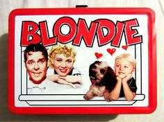 BLONDIE TIN LUNCH BOX Tin Lunch Boxes, Sci Fi Comics, Out To Lunch, Back In The Day, Tins, School Supplies, Childhood Memories, History, Retro