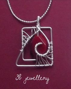 #wine #red and #silver is never a bad combination #3bjewellery #wirewrapping #beginner