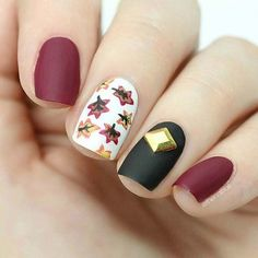 Cute Leaf Nail Art Design for Fall and Thanksgiving - https://www.luxury.guugles.com/cute-leaf-nail-art-design-for-fall-and-thanksgiving/