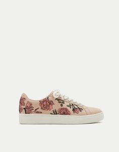 low priced e394b b2d47 Embroidered sneakers - See all - Shoes - Woman - PULL BEAR Viet Nam