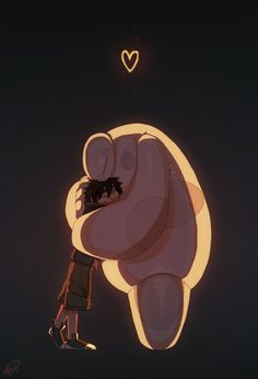 Hiro and Baymax - Big Hero 6 Disney Pixar, Disney Films, Disney Fan Art, Disney And Dreamworks, Disney Magic, Disney Marvel, Hiro Big Hero 6, Big Hero 6 Baymax, Hero Wallpaper