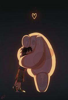 Hiro and Baymax - Big Hero 6 Disney Pixar, Heros Disney, Disney Films, Disney Fan Art, Disney Animation, Disney And Dreamworks, Disney Love, Disney Marvel, Baymax