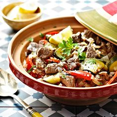 Summer Tagine of Lamb, Courgettes, Peppers and Mint recipe - From Lakeland