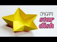 Origami Star Dish / Bowl Instructions - YouTube