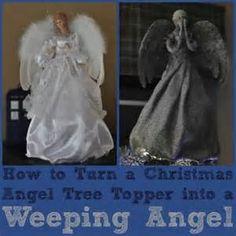 DIY Weeping Angel Christmas Tree great tree topper