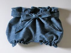 Homestitched: Denim Part 2: Paper Bag Shorts/Pants