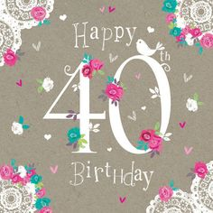 Happy 40th Birthday Images Messages Greetings