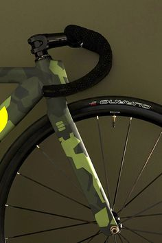♂ Bicycle with green military touch #olive #bicycle #military