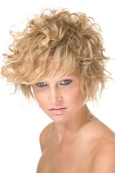 Short Curly Blonde Bob with Layers
