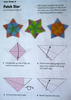 dolce bellezza: Origami Directions for A Five Pointed Star