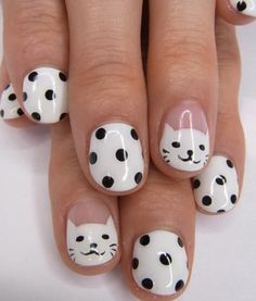 cute cat nails!