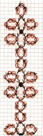 Free easy pattern schema for bracelet Golden Line | Beads Magic