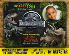 This item is unavailable Dinosaur Birthday Invitations, Dinosaur Birthday Party, 3rd Birthday Parties, 4th Birthday, Birthday Ideas, Birthday Angel, Dragon Birthday, Jurassic Park, Jurassic World