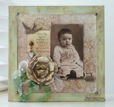 Such a Pretty creation by Emma for the  Simon Says Stamp Monday Challenge (About a Face) July 2014