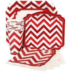 Red Chevron Party Supplies