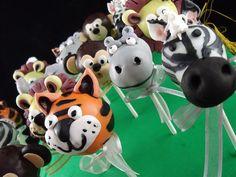jungle   cake pops ! by cake by kim, via Flickr