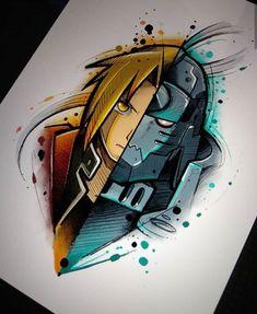 Fullmetal Alchemist Brotherhood, Desenhos Clash Royale, Character Art, Character Design, Desenho Tattoo, Tatoo Art, Anime Tattoos, Anime Artwork, Animes Wallpapers