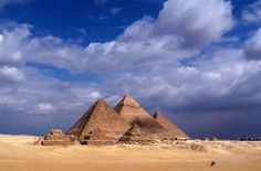 The Great Pyramids of Giza - Giza, Egypt. The pyramids took million stone blocks, weighing from 2 to 15 tons each. Finished construction around 2560 BC - and took 20 years to finish. Giza Egypt, Pyramids Egypt, Places To Travel, Places To See, Places Around The World, Around The Worlds, Great Pyramid Of Giza, Beautiful Places To Visit, Amazing Places