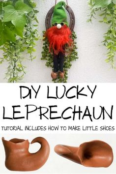 Channel the luck of the Irish on St Patrick's day and make an adorable Leprechaun Horseshoe Charm. Cute enough to stay up all year long, this craft idea takes less an hour to make and includes step-by-step instructions to make some Leprechaun shoes. #StPatricksDay #ACraftyMix #Horseshoe #Repurpose Diy Home Crafts, Diy Craft Projects, Holiday Crafts, Holiday Fun, Fun Crafts, Craft Ideas, Project Ideas, Green Beer, Wood Home Decor