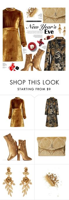 """""""gold and velvet NYE"""" by federica-m ❤ liked on Polyvore featuring A.L.C., Chanel, Dolce&Gabbana, Gianvito Rossi, Hayward, Oscar de la Renta, Retrò, Bobbi Brown Cosmetics, gold and dolceandgabbana"""