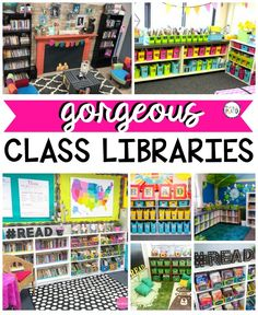 Looking for some inspirational decorating and organizational ideas for the classroom library as we head back to school this fall? Check out this roundup of gorgeous class libraries! Reading Corner Classroom, First Grade Classroom, Preschool Classroom, Classroom Themes, Future Classroom, Classroom Design, Kindergarten Reading Corner, Setting Up A Classroom, Preschool Reading Corner