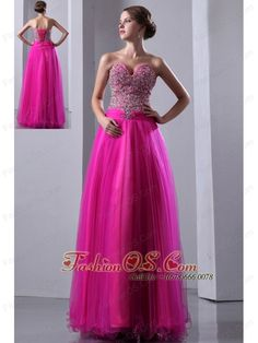 Fuchsia A-line Sweetheart Prom Dress Elastic Wove Satin and Organza Beading Floor-length  http://www.fashionos.com  Can't decide what to wear to attend your prom or party? Get the best of this flirty dress for prom homecoming or special occasion party. This prom dress features a strapless sweetheart beaded bodice with dreamful skirt. The beading upgrades your taste and beautify the dress. This special dress is sure to impress at your next prom or special occasion party.