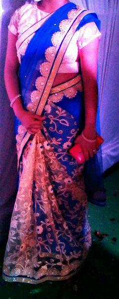 Designer# Saree#designed#stitched by me