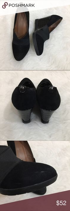 🎉SALE🎉 Donald J Pliner black Carla suede wedges Gorgeous Donald J Pliner black suede Carla wedges. Still being sold in stores for $100+. In very good condition - some light scuffs on suede, see photo. Donald J. Pliner Shoes Wedges