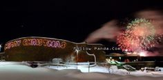 New Year's Fireworks at Grande Prairie Regional College GPRC - Grande Prairie, Alberta, Canada | FollowPanda.COM