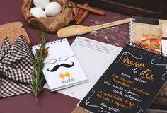 Várias opções de cadernos de receita