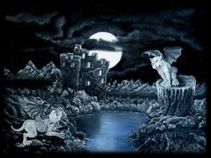 'Revierkampf Golems in der Nacht' von artkszp bei artflakes.com als Poster oder Kunstdruck $16.63