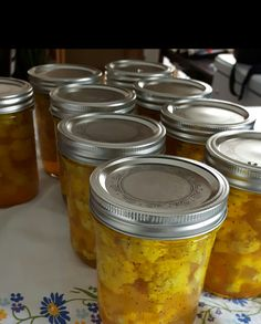 Marinade Sauce, Ketchup, Pressure Canning, Canning Recipes, Pickles, Food And Drink, Mint, Jar, Homemade