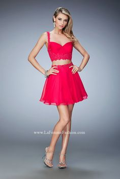 809940783b5e Look chic   flirty in this short La Femme Style 21956 available at  WhatchamaCallit Boutique