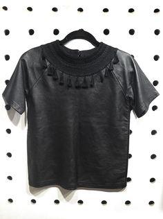 Yakampot Black Leather Top : Naked