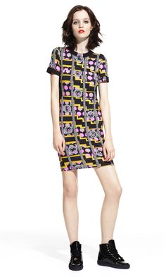 T-shirt Dress & Patent Leather Sneakers