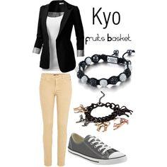 """Kyo, from Fruits Basket"" by blackrabbitmegapig on Polyvore"