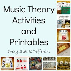 Every Star Is Different: Music Theory Activities and Printables for Kids (KLP Linky)