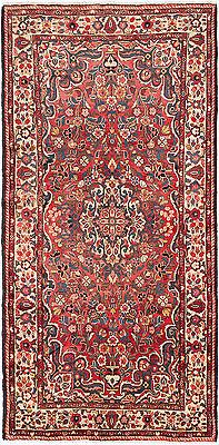 "SHIPS CANADA ONLY-Hand-knotted Persian 5'0"" x 10'2"" Borchelu Light Red Wool Rug"