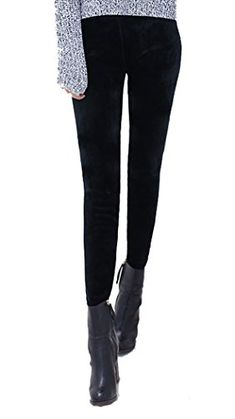 9ea67cdca Allonly Womens Printed Super Warm Velvet Thick Thermal Leggings Pants For  Winter    You can