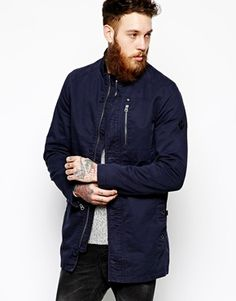 ASOS Mac With Funnel Neck