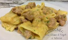 Paccheri with Beans and Sausage - Paccheri con Fagioli e Salsiccia - A Tavola con LiaA Tavola con Lia