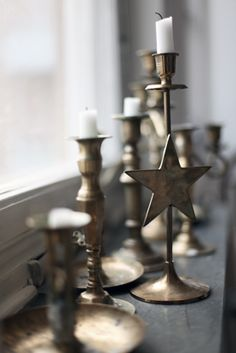 Tarnished candlesticks...see plenty of these at the thrift store!