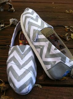 Chevron TOMS by KillerKicks23 on Etsy, $95.00