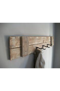 Reclaimed Barn Wood Coat Rack Shelf Home Sweet Home